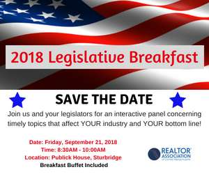Join Us at The 2018 Legislative Breakfast