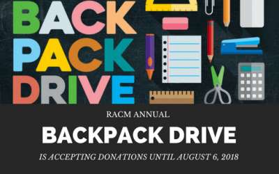 RACM Annual Backpack Drive