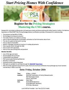 Pricing_Strategies_Designation_Course_Realtor_Asscoation_Central_Massachusetts